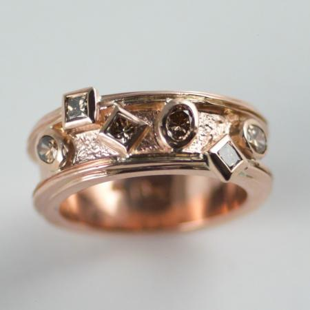Argyle Champagne Diamond in 9ct Pink Gold