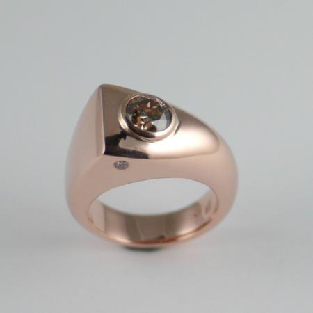 Argyle Cognac Diamond Pink Gold Ring