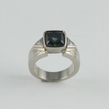 Austalian Blue Sapphire ring