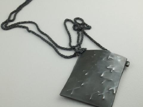 Silver oxidized hollow to house mementos