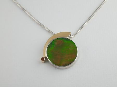 Ammolite Silver and Gold