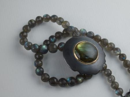 Labradorite and Silver oxidized