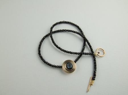 Gold and Black Spinel