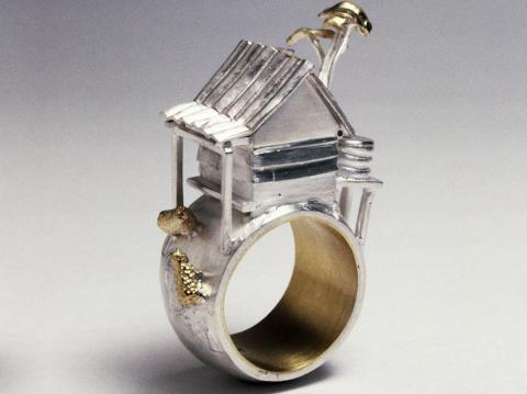 Ceremonial marriage ring Silver and 18ct Gold see collections