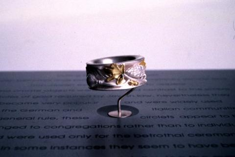 Ring with the 7 fruits of Judaica
