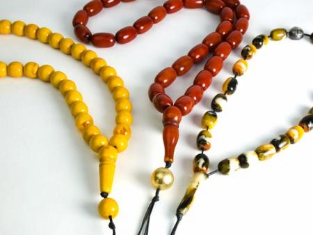 Copal beads on a string to de stress busy lives.