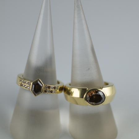 Argyle Cognac Diamond Rings