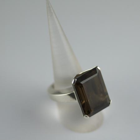 Smokey Quartz and silver Ring
