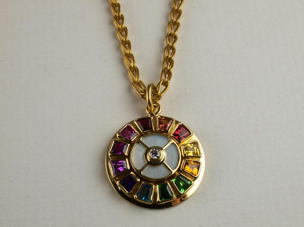 Gold and Sapphire Pendant
