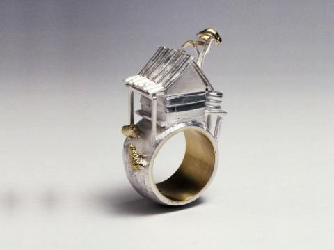 Ceremonial Marriage Ring in silver &18ct gold